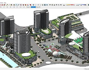 3D Sketchup 184 - Complex Building residential and
