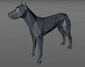 3D print model low poly dog