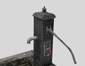 Victorian Hand Water Pump Black Model 3D