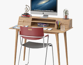 3D model Scandinavian Style Desk