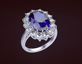 Ring Princess 77 3D print model jewelry