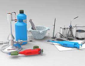 healthcare chemistry set 3D model