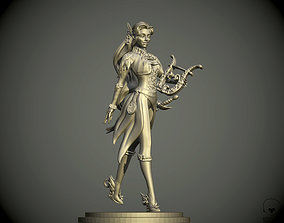 Eladrin women Bard pathfinder 3D print model bard