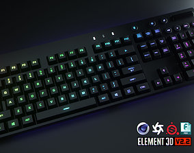 3D asset Logitech Wireless RGB Computer Keyboard