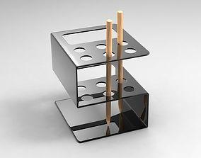 Metal and plastic pen holder 3D MODEL