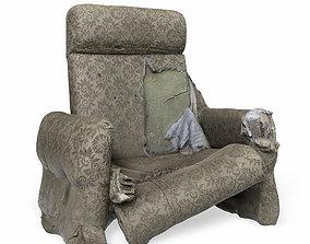 3D asset game-ready armchair breaking