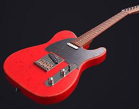3D model realtime Fender Telecaster