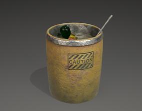 3D asset Trash can or bin