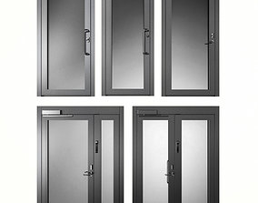 metal 3D model Metal fire doors
