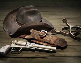 Wild West Cowboy Gear - 4 Pack 3D model