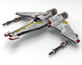 3D print model Star wars liberator class space ship