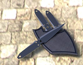 Kunai Throwing Knife 3D model