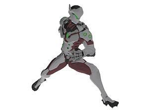 3D model Genji Rigged
