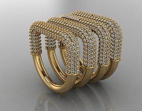 3D print model GC GOLD E063- Diamond Cartilage Earring