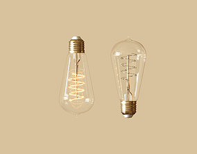 Edison Bulb 3D PBR