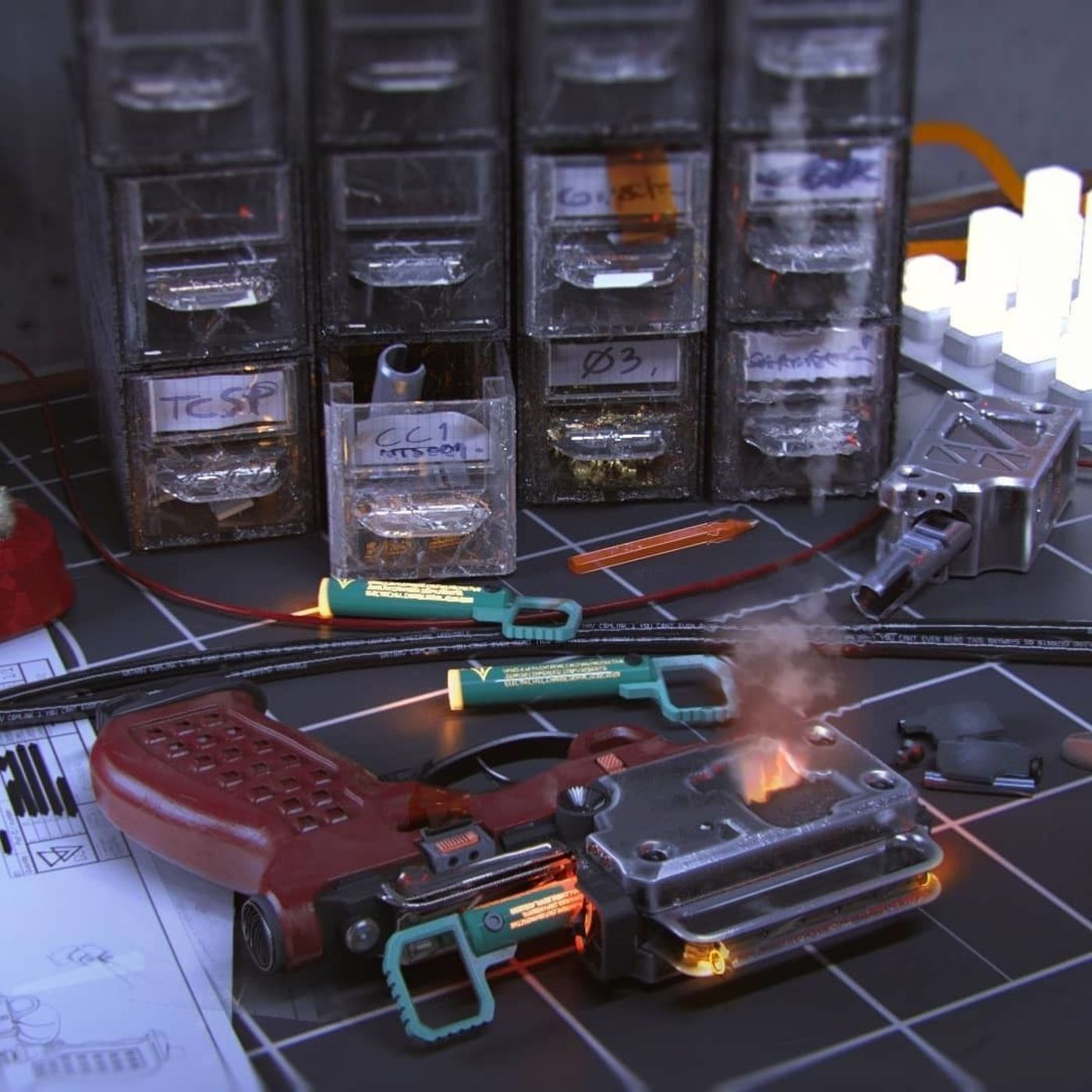 Industrial Modeling and Rendering | Guns and Weapons