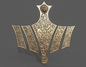3D print model Cersei Lannister golden lion corset game of