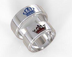 crown wedding rings 3D printable model