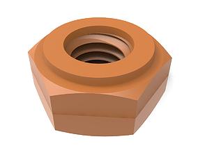 Steel Hex Nut 3D printable model