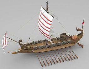 3D model Roman Galley