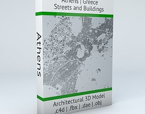 3D model Athens Streets and Buildings