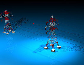 3D model Power tower