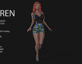 3D asset animated Keren Style IV GIRL