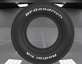 3D model 70s muscle car BFGoodrich Radial TA tyre