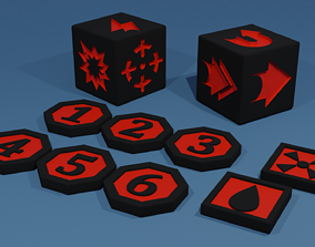 3D printable model Kill Team Token and Dice