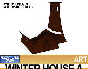 Winter House A 3D model