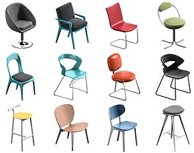 3D 12 Chair Pack Collection modern