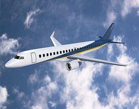 Embraer 190 commercial airliner 3D asset