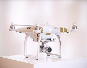 White drone HG2 3D model cinema4d