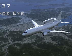 E-737 Peace eye 3D asset low-poly