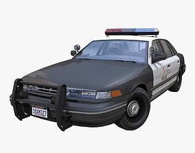 3D asset American 90s police car