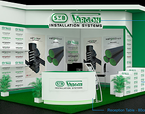 Exhibition booth 3D 3d