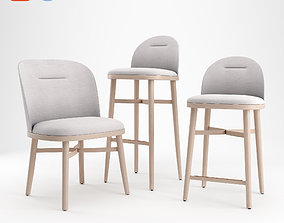 3D Stellar Works - Bund Dining Chair - Bar Chair - Bar