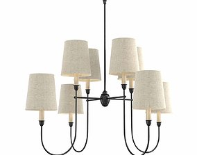 Mecox VIENNA EIGHT ARM CHANDELIER 3d model