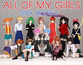 3D model All of my girls