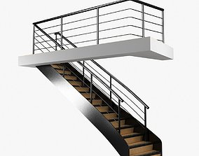 3D interior boat stairs