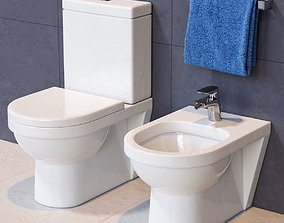 Villeroy and Boch Toilet and Bidet 3D
