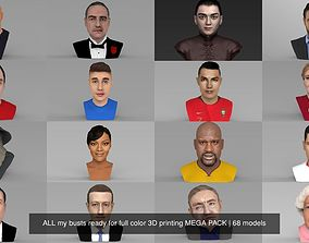 MEGA PACK 70 busts ready for full color 3D printing