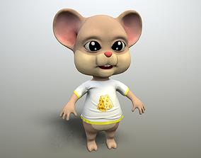 cartoon mouse 3D asset