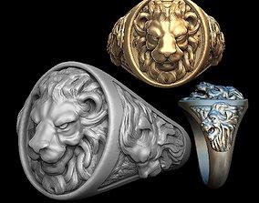 Lion man ring 3D print model