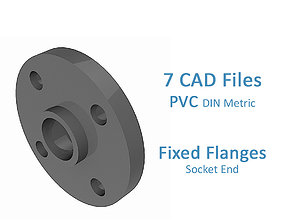 3D PVC Fixed Flanges - Socket End -