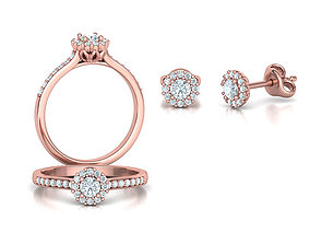 3D model Bespoke Classic Ring and Stud Earrings