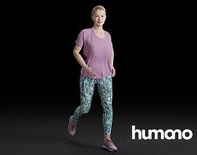 Humano Running Woman 0808 3D