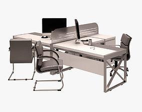 3D model Workstation Set 001