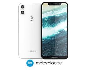 3D Motorola One White