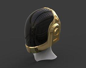 3D printable model Daft Punk Gold Helmet
